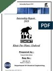 Internship Report DG Cement Khairpur