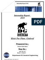Internship Report DG Cement Khairpur