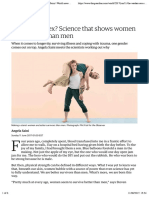 Are women really stronger than men? | Angela Saini | World news | The Guardian