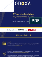 Legislatives 2nd Tour Projection Odoxa Dentsu Consulting Le Point