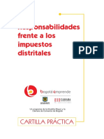 Cartilla Impuestos Distritales