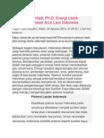 Energi Listrik Alternatif Berbasis Arus Laut Indonesia