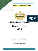 Formato Del Plan de Trabajo