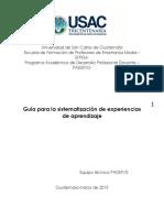 Guía Sistematización Experiencias 2015 Siguiente Fase