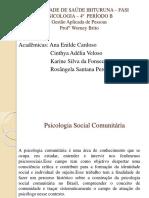 Slide de Jaciany Psicologia Socia Comunitaria