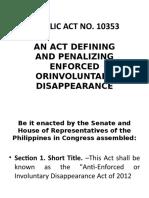 Republic Act No 10353