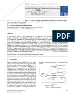 IJREI_ A thermodynamic analysis of ejector type vapour refrigeration system using eco-friendly refrigerants