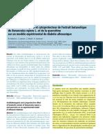 Effet Antidiabétogène Et Cytoprotecteur de l'Extrait Butanolique
