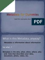 Metadata for Dummies