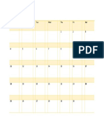 JUNE 2017 table calendar