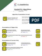 Onehanded Pll Algorithms