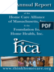 2017 Annual Report of the Home Care Alliance of Massachusetts and Foundation for Home Health