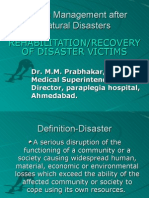 Rehab and Recovery Policies in Disaster