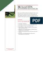 Bulletin of Concerned Asians Scholars