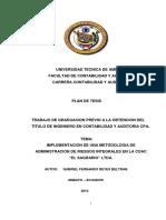 Implementacion de Una Metodologia de Administracion de Riesgos Integrales