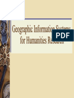 Gis for Humanities Research