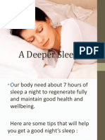 A Deeper Sleep September 15,2015