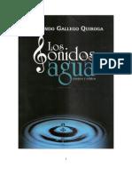 Los Sonidos Del Agua. Fernando Gallego. Ensayos y relatos.