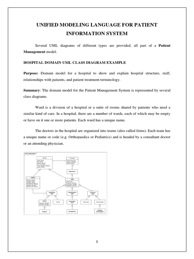 Uml patient information system patient hospital ccuart Images