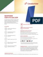 Canadian Solar Datasheet MaxPower CS6X P v5.5na