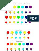 Circulos Coloridos Para Colar No Instrumento e Partituras Pa