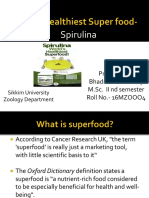 Worlds Healthiest Super Food - Spirulina