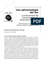 Boaventura- Epistemologia del sur