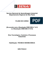 Plano de Curso Técnico Em Mecânica 1500h (Novo)