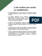 Concepto de Rentas Por Venta de Valores Mobiliarios.docx Trabajo Del Barrera