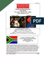 Globally Speaking Zulu Syllabus Spring 2015