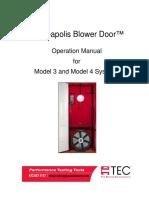 Blower Door Manual Ingles