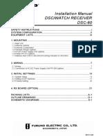 Furuno DSC60 Installation Manual