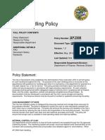 COS Cash Control Policy