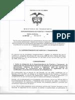 Resolución 9699 de 2014 (Sicov-sisec)
