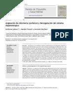 Asignacion de Relevancia y Desregulacion Del Sistema Dopaminergico