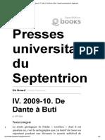 Passerone, G. - Un lézard  (IV. 2009-10. De Dante à Buti)