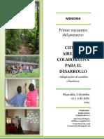 Memoria Primer Taller Open Science-Colombia