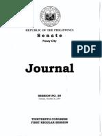Philippine Senate Session No. 28 (Journal)