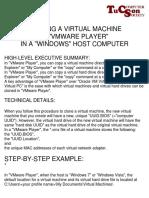 Cloning VM in VMwarePlayer--Windows