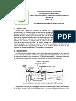 Flujómetro Neumático Tipo Venturi