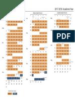 UF Academic Calendar 17-18
