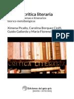 Teoria y critica literaria