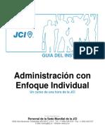 Manual de Instructor - Administración con Enfoque Individual