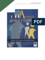 Acceso a La Justicia y Equidad Estudio en Siete Países de América Latina