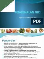 Pengenalan Gizi dan Karbohidrat