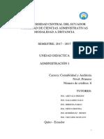 Unidad Didactica Administración I -CA.