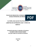 "Tesis El Blog ""Utero de Marita"")"