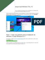 Cómo Tener Arranque Dual Windows 10 y Windows 7