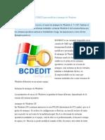 Como Usar El Comando BCDEDIT Para Modificar El Arranque de Windows