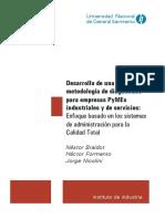 Desarrollo de Una Metodología de Diagnóstico Para Empresas PyMEs
